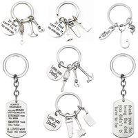 Charms Agent Keychain Hausschlüssel verkauft Immobilienmaklervorrichtung Schmucksachen Vatertag Schlüsselanhänger Geschenke für Frauen Männer Schlüsselanhänger