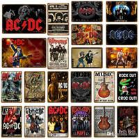 2021 ROCHA ACDC filme vintage metal sinais ac dc música clube publicidade placa de placa de café decoração do café decoração adesivo de parede pintura
