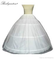 A--LINE BALD ثوب 3 الأطواق البيضاء الوثيقة الزفاف ثوب نسائي مع الدانتيل حافة الزفاف كرينولين 20216
