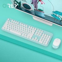 2. 4G Wireless Keyboard Mouse Kit Magic Ergonomic Silent Gami...