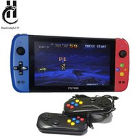 PS7000 Q900 7 inch Handheld Portable Game Console with 2 gamepads 64 128GB 5000 free games 100 ps1 games for MAME CPS SegaMD Y1123