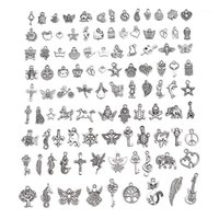 1Set Antique Silver Mixed European Bracelet Pendant Fashion Jewelry Charms For Making Finding DIY Charms Handmade1