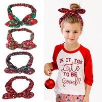 Décorations de Noël Joy-Lronife oreilles cadeau Imprimer la bandeau de la bande de cheveux Accessoires de cheveux Filles cross Eadbands pour femmes liens Bands Fashion