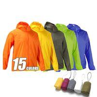 Outdoor Waterproof Windproof Coat Windbreaker Light Camping Jacket Men Jackets Women 15 Colors Q1202