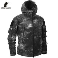 Mege Marca Otoño Invierno Fleece Militar Camuflaje Táctico Ropa para hombre Polar Cálido Multicam Ejército Hombres Abrigo Outwear Hoodie 201123