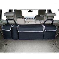Nuevo organizador del tronco de automóviles Bolsa de almacenamiento Backseat Bag High Capacy Multi-use Oxford Atrás Accesorios interiores Automóvil Asiento 1