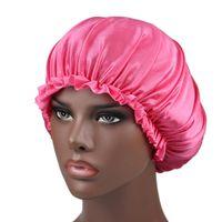 Silk Lace Duche Cap Mulheres Monocromático Nightcap Renda Cuidado Cuidado Capuz Capuz Capelo Cabelo Beleza Elástico Banho CACA2474