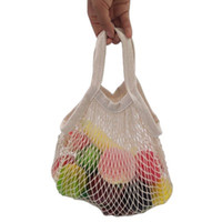 Organic cotton net bag Portable fruit bag Storage cotton net...
