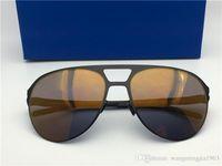 Nuevos gafas de sol de los hombres de Aron para hombre con marco piloto con espejo gafas de sol de gran tamaño de aleación de memoria de marco para mujeres de diseño al aire libre fresco