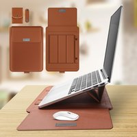 얇은 다기능 노트북 14 11 12 13 보관 조각 범용 인치 킥 스탠드 가방 멀티 15 가죽 컴퓨터가있는 멀티 15 가죽 컴퓨터