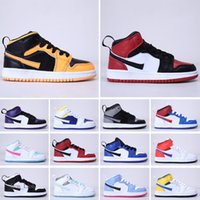 Nike Air Jordan 1 2021 Anime Mandarin Amorn Amorin Kids Chaussures Mid Top Jumpman 1 Enfants Sneakers Boys Chaussures Filles Sneakers