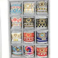 Zhongvi ethnisches Armband für Frauen Handmade Geschenk Neues Jahr 2021 Samenperlen Pulsera Mode Einstellbare Wrap Schmuck Miyuki Armbänder B1205