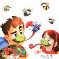 Язык TiC-Tac Chameleon Язык Смешная Настольная игра Для Семейной партии Игрушка, Будьте быстрыми Облизыванными Картами Игрушка для детей Puzzle Игра Y200428
