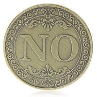 Да или нет памятная монета Цветочные Да Нет Письмо Монета Классические Металлические Волшебные Трюки Игрушки Творческие Волшебные реквизиты Показать инструмент PPD4505
