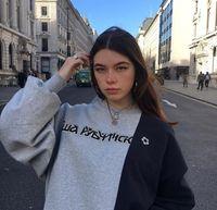 2018 جديد أزياء هوديي رسائل الروسية البلوز البلوز عارضة خياطة الشارع سترة س الرقبة طويلة الأكمام gosha هوديس