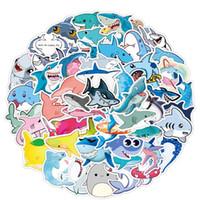 50 قطع الجملة الكرتون ملصقات لطيف جميل القرش ملصق سكيت حقيبة الجيتار الأطفال كتابات ملصق الاطفال اللعب