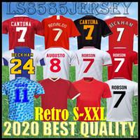 Rétro 2007 2008 Jersey United Soccer Jersey Football Giggs Scholes Scholes Beckham Ronaldo Cantona Solskjaer Manches 07 08 93 94 96 97 98 99 86 88 90 91 Chemises de football de qualité supérieure