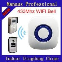 جودة عالية wifi 433 ميجا هرتز كود التعلم ebell dingdong الرنين اللاسلكية الجرس المنزل جرس داخلي ل eBell فيديو إنترفون مطابقة