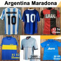 1987 1989 Napoli Maradona Erkek Retro Futbol Formaları Arjantin Milli Takımı Napoli Eve Uzakta Futbol Gömlek 81 82 Boca Juniors Kısa Kollu