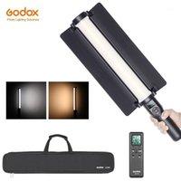 Godox LC500 3300K-5600K Poignée réglable LED Bâton lumineux Batterie de lithiunm intégrée + télécommande + chargeur d'alimentation AC1
