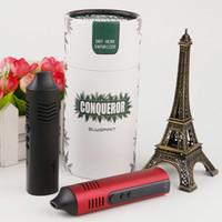Orijinal Hugo Buharı Conqueror Kiti Kuru Herb Buharlaştırıcı Vape Kalem 2200 mAh Pil Sıcaklık Kontrolü Bitkisel E Sigara Kiti