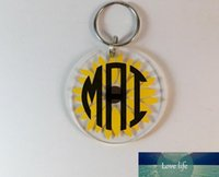 Porte-clés acrylique vierge usine directement Vente 4cm Personnalisé Personnalisé Porte-clés en plastique transparent Porte-clés acrylique