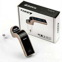 자동차 무선 블루투스 MP3 FM 송신기 변조기 2.1A 자동차 충전기 무선 키트 지원 핸즈프리 G7 핸즈프리 G7 패키지와 USB 자동차 충전기