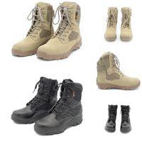 Дешевые не бренд мужчин коровьей замшевой дельты Tactical военный ботинок на открытом воздухе большие ботинки в пустыне ботинки мужские спортивные ботинки