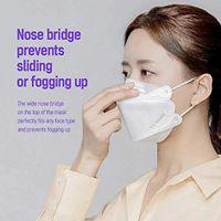 10 COLORES KF94 KN95 para diseñador adulto Máscara de cara Protección a prueba de polvo Filtro con forma de sauce Respirador FFP2 CE CERTIFICACIÓN 10 UNIDS / PACK DHL