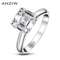 아인 씨 3 캐럿 aschcher는 여성을위한 약혼 반지를 잘라낸 스털링 실버 925 Sona 시뮬레이션 된 다이아몬드 기념일 솔리테어 링 Y1128