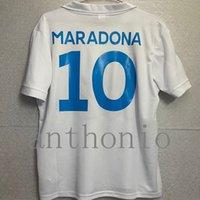 Üst 1987/88 Retro Napoli Futbol Formaları Maradona Insigne Camisetas De Ayak Özelleştirilmiş Kitleri 1988/89 Napoli Futbol Jersey Tayland Gömlek Kalite 1989 Futbol Gömlek