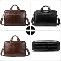 HBP Westal Wen's حقيبة جلدية حقيبة جلدية الرجال جلد طبيعي البريدي رسول حقيبة رجل جلد حقيبة كمبيوتر محمول للرجال