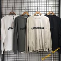 3D буквы футболки мужчины женщины 1: 1 случайные негабаритные абрикос серый туман тройник высочайшее качество экстенсы с длинным рукавом футболка