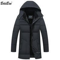 BOLUBAO Winter Men Brand Solid Color Hooded Parkas Mens High Quality Long Parkas Casual Hooded Parkas Outerwear 201118