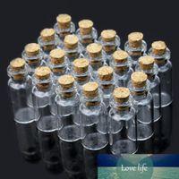 20 шт. Прозрачная прозрачная милая крошечная мини-пустой пробковый стеклянные бутылки, желающие сообщения флаконы баночки контейнер 2ML DIY ремесло подарок