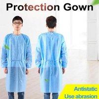 Dokumasız Koruyucu Giysi Tek İzolasyon Önlük Giyim Anti Toz Açık Koruyucu Giysi Tek yağmurluklar Takımları