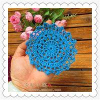 Новые Ткань вязание вязания крючком Doilies Placemat Tableware для украшения дома Square 30 Pic / Lot 11 см. Круглые колодки подставки для чая чашки C1210