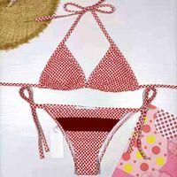 21ss New Hot Women Traje de baño moda Moda Sexo femenino Bikinis Diseñadores Vogue Traje de baño para mujer Top + Pantalones 2 colores Tamaño disponible: S-XL