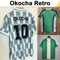 1994 1996 1998 Okocha Finidi Mens Retro Jerseys Jerseys National Equipe Home Verde Branco Aparelho de Futebol Camisa de Futebol Fardos de Manga Curta