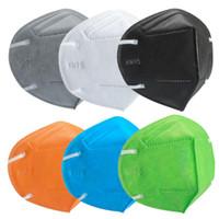 KN95 Masks Factory 95% фильтр Маска для лица Активированный углеродный дыхательный респиратор клапан 5 слоев маски дизайнер красочные FaceMask бесплатная доставка