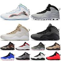 Nike Air Jordan 10 Jordan Retro 10 10s Top Qualité 2021 NOUVELLES FEMMES MENS Jumpman 10 Basketball Chaussures Ciment Shadow Stetle Hommes Baskets Sneakers