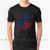 Herren T-shirts LKW-Fahrer Heartbeat Amerikanische Flagge Schwarz Weiß T-Shirt Für Männer Frauen Lustige Trucker-Geschenke Gifts1