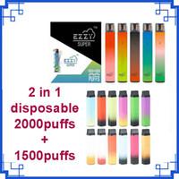 2021 Ezzy Super 2 i 1 Cigarettdesign Tomma disponibla Pods 900mAh 1500Puffs Batteri 8.0ml Pod 2000Puffs vs Air Bar Lux Max Flex