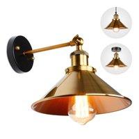 Lámpara de pared Luz SCONC Industrial Retro Sconce Lámpara de oro Techo para sala de estar Dormitorio Aisle Iluminación Accesorios