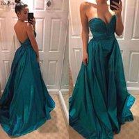 Baijinbai Sweetheart Satin Prom Dresses Backless A-line Abito da sera formale con treno Long Sexy Vestidos de Fiesta de Noche1