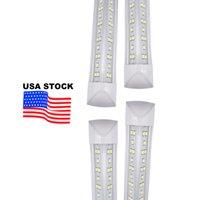 미국 + 8ft 2400mm T8 LED 튜브 라이트 높은 슈퍼 밝은 72W 100W 144W 따뜻한 화이트 LED 형광 전구 AC85-265V