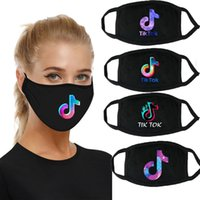 TIKTOK mask  face mask dust- proof cloth cotton black printed...