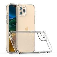 Para iPhone 12 Pro Max Samsung S21 Casos com Câmera Proteção Celular Caso Clear Acrílico Móvel Capa