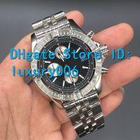 2020 Mens Reloj Super Avengerii 1884 Cara negra Movimiento de cuarzo Cronógrafo Masculino de acero inoxidable Hombres Relojes A133711 Reloj de pulsera
