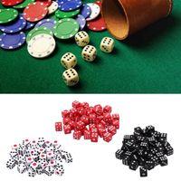 Gambing 100pcs 8mm DIC Acrylique Blanc / Rouge / Noir Gaming Standard Standard Decider Decider Parties